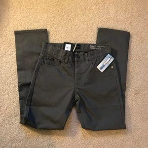 NWT RVCA PVSH Slim Straight Pants